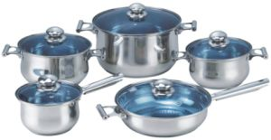 High Quality 10PCS Stainless Steel Cookware Set pictures & photos