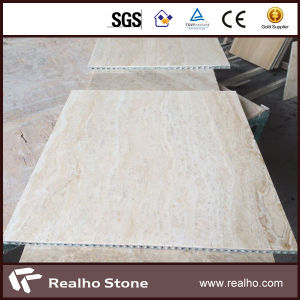Modern Beige Travertine Marble Composite Tile for Flooring pictures & photos