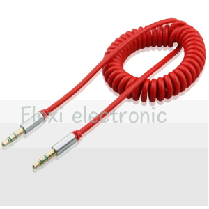 AV Output Cable 3.5mm Male to Female Retractable Cable pictures & photos