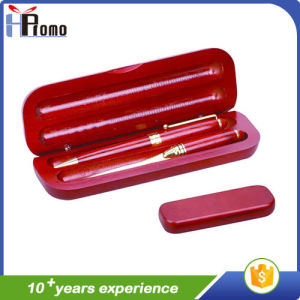 Oval Wooden Pen Box with Pen pictures & photos