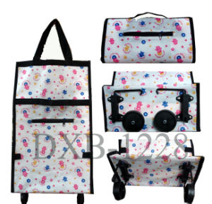Shopping Trolley Bag with Wheels Portable Foldable Shopping Bag Cart pictures & photos