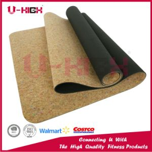 TPE + Cork Camo Yoga Mat with TPE Color Chips pictures & photos