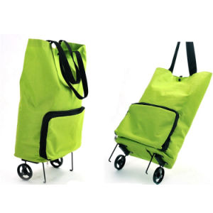 Foldable Fashion Supermarket Rolling Shopping Trolley Bag pictures & photos
