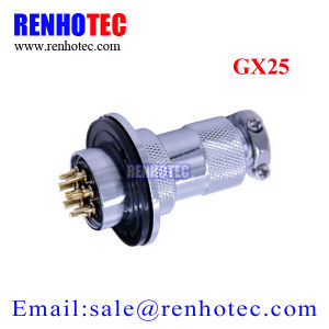25mm Waterproof Gx25 8 Pin Circular Electrical Connector with 3 Hole Flange pictures & photos