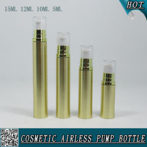 Gold Plastic Cosmetic Airless Lotion Bottle with Pump pictures & photos