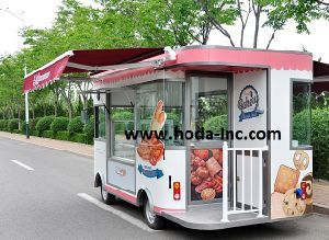 Bakery Cake Mobility Bus, Tricycle Fast Food Shop Car 80km/Charge (CC4000-B)
