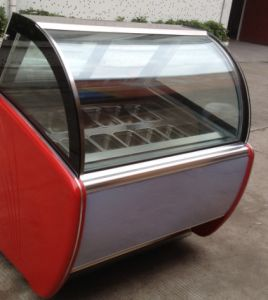 Cake Display Supermarket Showcase Freezer Refrigeration pictures & photos