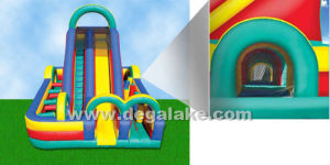 Funny Inflatable Slide with Obstacle Combo for Amusement Park pictures & photos