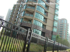 Haohan High-Quality Customized Classic Industrial Residential Galvanized Steel Fence 50 pictures & photos