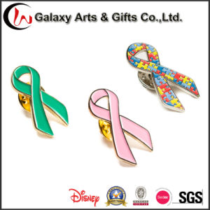1 Inch Ribbon Shape Enamel Logo Metal Lapel Pin
