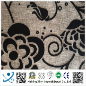 China Supplier Classical Fashion Soft Sofa Velvet Flocking Fabric pictures & photos