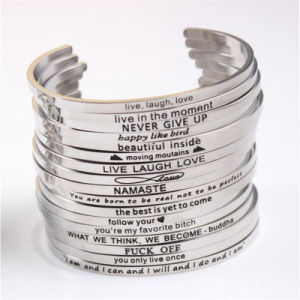 Women Custom Open Cuff Bangle, Personalized Engraved Bangle pictures & photos