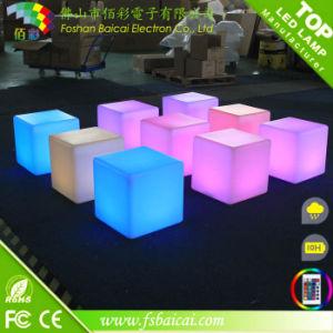LED Bar Furniture LED Light Night Club Disco Decor PE Illuminated LED Cube Chair