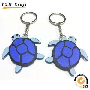 Leather and Metal Animal Keyring pictures & photos