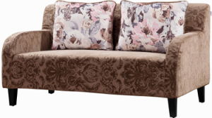Love Seat Fabric Leisure Sofa for Small Space Room pictures & photos