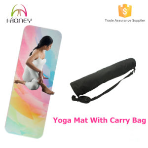 Printed Rubber Yoga Mat Textured Non Slip Surface pictures & photos