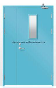 Fire Glass Door Steel Fire Door Blue Color pictures & photos