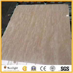 Filled Polished Surface Golden/Cream Travertine/Travertino for Pavers, Slabs Floor Tiles pictures & photos