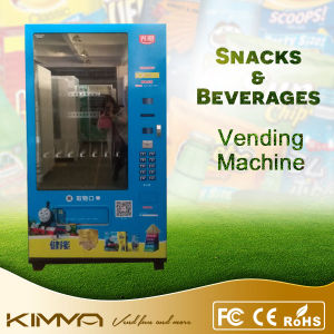 Auto Chocolate and Drinks Vending Machine with Big Capacity pictures & photos