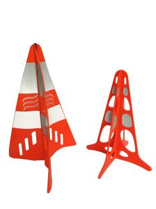 Orange PVC Cross Style Road Safety Cone Sign pictures & photos