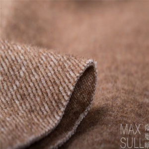 Wool/Cotton Fabric for Autumn or Winter Coat in Brown pictures & photos