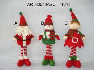 """16""""H Standing Santa Snowman Elf-3asst-Christmas Decoration pictures & photos"""
