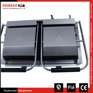 Chinzao Professional Manufactrer Commercial Double Head Panini Grill Toaster pictures & photos