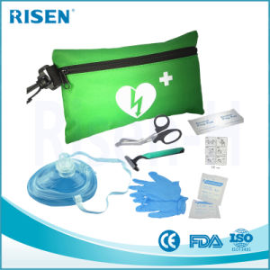 Fast Response Kit Prompt Complete Aed Training First Aid Kit with Red Nylon Bag pictures & photos
