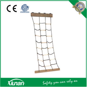 Kids Climbing Cargo Net Ladder Made of Wood pictures & photos