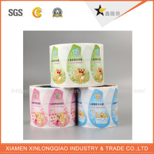 Custom Clothing Print Polyester Printing Sticker Washable Woven Garment Label pictures & photos