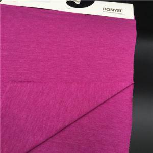 Cotton/Polyster Fabric Plain Dyed CVC Knitted Fabric for Garments pictures & photos