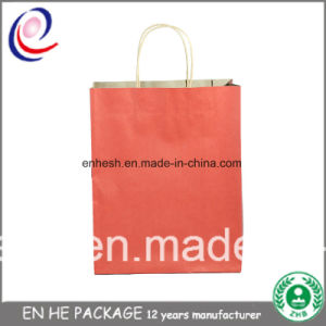 High Quality Brown Kraft Paper Bag Enhe Package pictures & photos