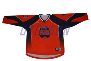 Design Custom Made Goalie Cut Sublimated Hockey Jerseys (H008) pictures & photos