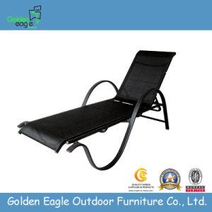 Outdoor White Rattan Beach Chair, Sun Bed