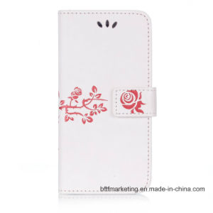 Embossed PU Leather Wallet Cell Phone Case for iPhone pictures & photos