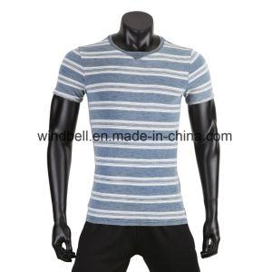 Fashionable Yarn Dye T Shirt for Men pictures & photos