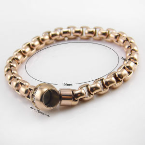 Stainless Steel Bracelet with Diamond Round Magnetic Open Jewelry pictures & photos