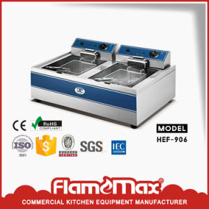 Stainless Steel Electric Deep and Freestand Chip Fryer with Cabinet pictures & photos