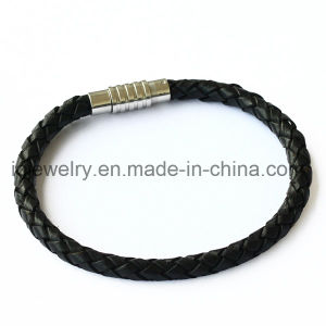 Leather Bracelet with Magnet Screw Clasp pictures & photos