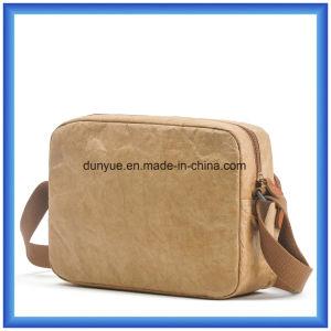 New Material DuPont Paper Messenger Bag, Eco-Friendly OEM Tyvek Paper Shopping Shoulder Bag with Nylon Adjustable Belt pictures & photos