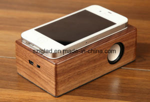 Wood Case Induction Touch Portable Hands Free Wireless Speaker pictures & photos