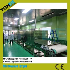 Tunnel Screen Conveyor Flower Seed Microwave Sterilization Drying Machine pictures & photos