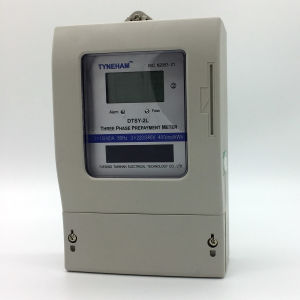 Dtsy-2L Three Phase Four Wire Prepaid Kwh Meter pictures & photos
