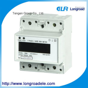 Mini Type Din Rail Installation Single Phase Electronic Watt-Hour Meter pictures & photos
