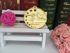 Gold Plated Zinc Alloy Hollow Gymnastic Competition Medal pictures & photos