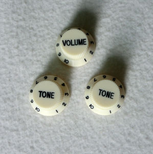 Guitar Parts China Vintage White Guitar Knobs for V/T Control pictures & photos