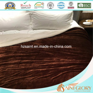 Chinese Factory 100% Polyester Sherpa Blanket pictures & photos