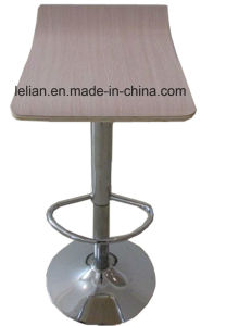 Plywood Swivel Bar Stool with Chrome Base (LL-BC059) pictures & photos