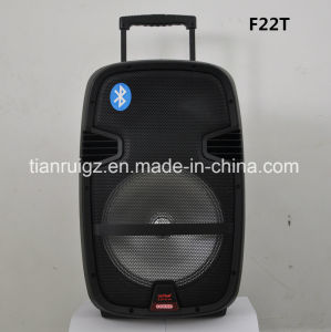 15inch Colorful Trolley Battery Speaker with Wireless Microphone Qx-23D pictures & photos