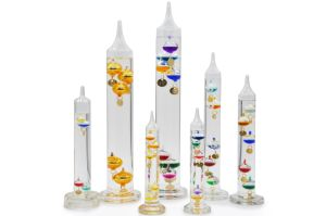 Multi-Colored Glass Galileo Thermometer for Room Use pictures & photos